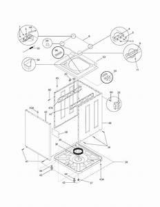 Lower Cabinet  Top Diagram  U0026 Parts List For Model