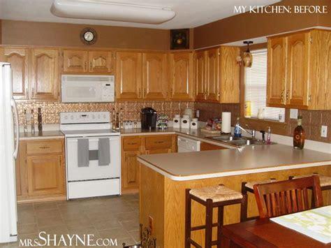 kitchen  grey walls  brown cabinets design advice   oak kitchen kitchens
