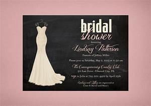 wedding dress bridal shower invitation o chalkboard shower With wedding dress bridal shower invitations