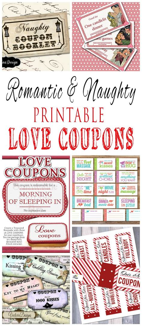 romantic  naughty printable love coupons   love