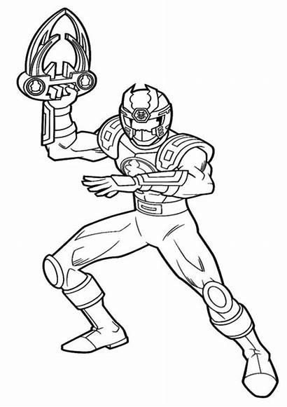 Coloring Power Rangers Pages Megaforce Samurai Lock