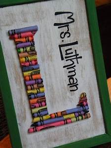 cute gift idea for teachers projects to try pinterest With crayon letters for teachers