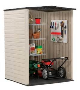 rubbermaid roughneck plastic medium vertical storage shed