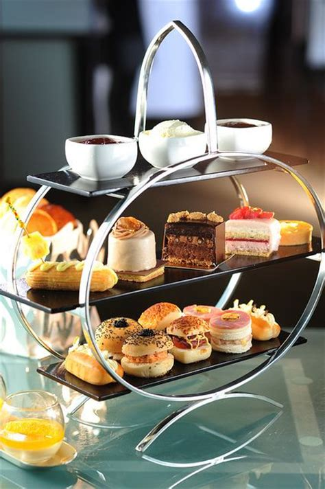 deco afternoon tea pastries trays and deserts on
