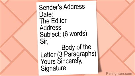 letter   editor format