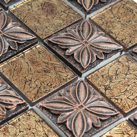 Glass tile Brown glass mosaic tiles crystal glass tile