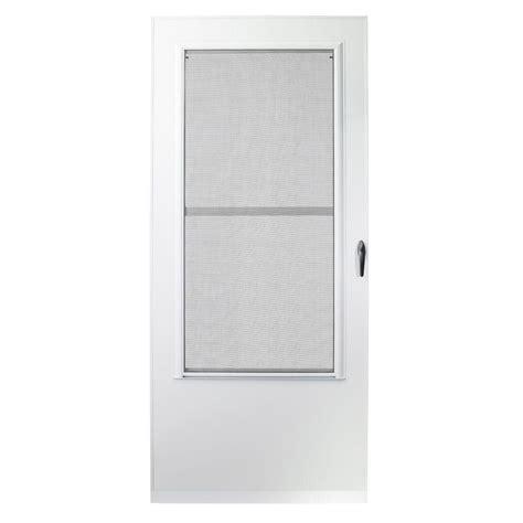 emco screen door emco 36 in x 80 in 200 series white universal