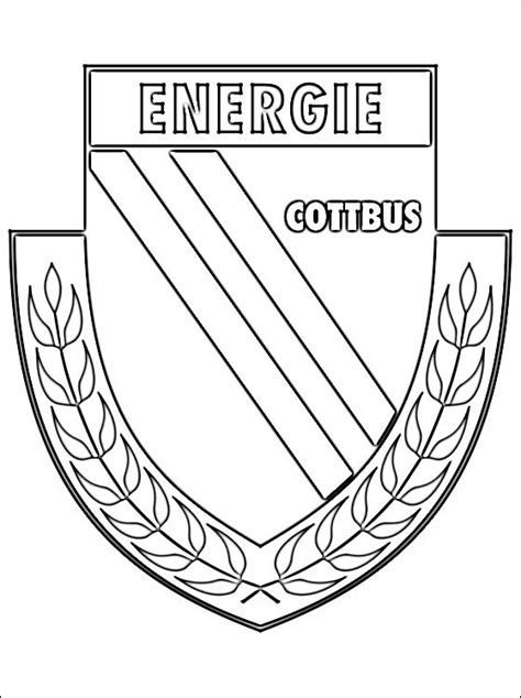 energie cottbus football club coloring page coloring pages
