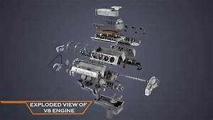 Exploded View Of V8 Engine