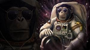 monyet astronot hd wallpaper desktop : layar lebar ...