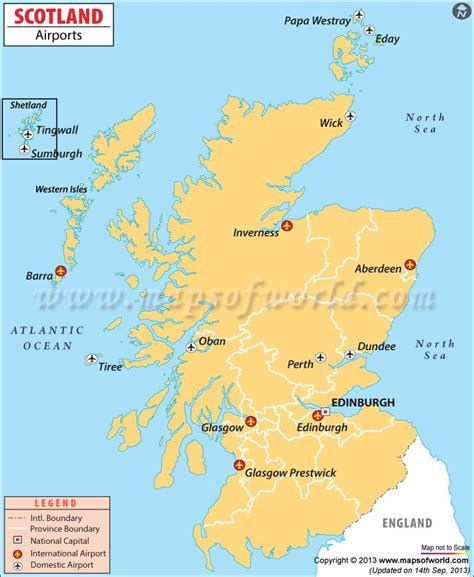 scotland airports map uk maps images map scotland