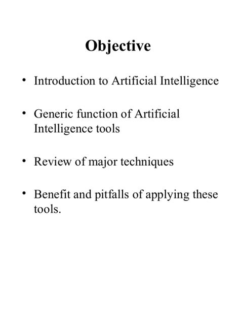 Useful Techniques in Artificial Intelligence