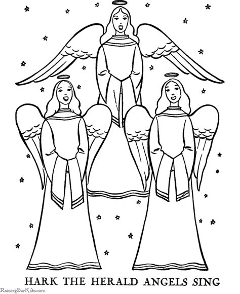 Angels coloring pages   The Christmas Story