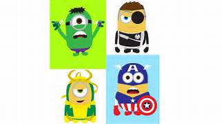 Girlfriends Of Habit Despicable Me Minions As Avengers Wallpaper
