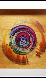 Conception: 3D painting with layered resin and acrylic on ...