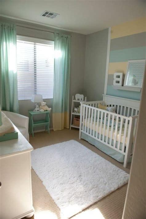 Babyzimmer Gestalten Grün by T 252 Rkis Und Graue Farbe F 252 R Ein Kleines Babyzimmer 45