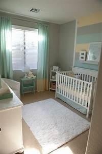 Ideen Für Babyzimmer : t rkis und graue farbe f r ein kleines babyzimmer 45 ~ Michelbontemps.com Haus und Dekorationen