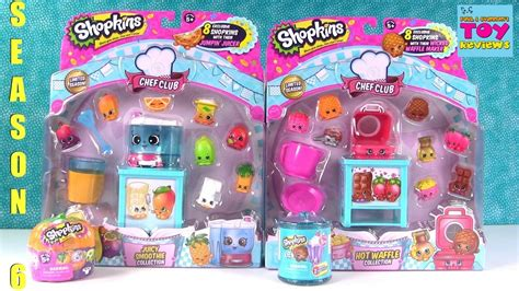 shopkins waffle smoothie chef club season 6 playset toy review pstoyreviews youtube