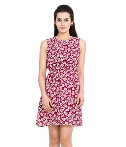 Buy Pera Doce Boysenberry Coloured Polyester Dress Online ...