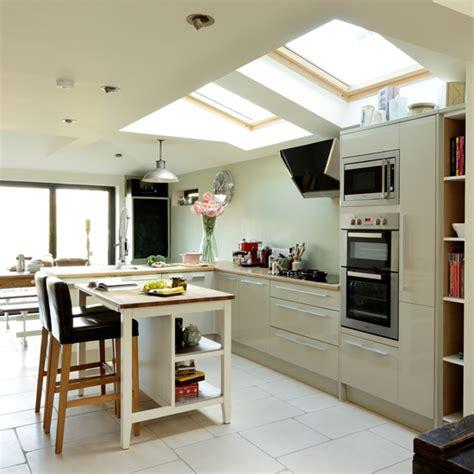 green kitchen diner flint grey kitchen ideal home 1406