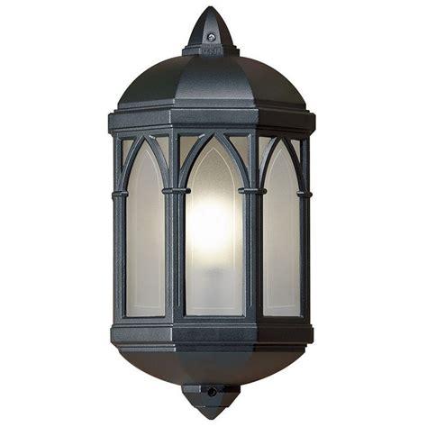 outdoor flush mounted wall light black
