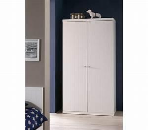 Armoire Bois Blanc : armoire 2 portes en bois blanc ar2002 ~ Teatrodelosmanantiales.com Idées de Décoration