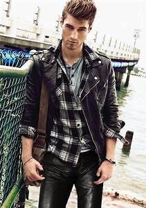 Http//www.mensleatherfashion.com/ | Men in Leather Jackets | Pinterest | Menu0026#39;s leather Plaid ...