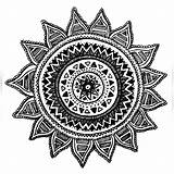 Coloring Pages Mandala Compass Drawing Tattoo Adult sketch template