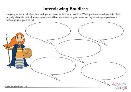 Boudicca Interview Worksheet