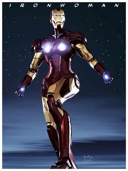 Iron Woman Ironman Silver Avengers Deviantart Crotale