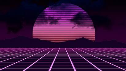 Neon Wallpapers Windows 80s Landscape Abstract Xbox