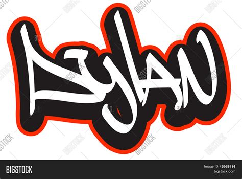 Dylan Graffiti Font Vector & Photo (free Trial)