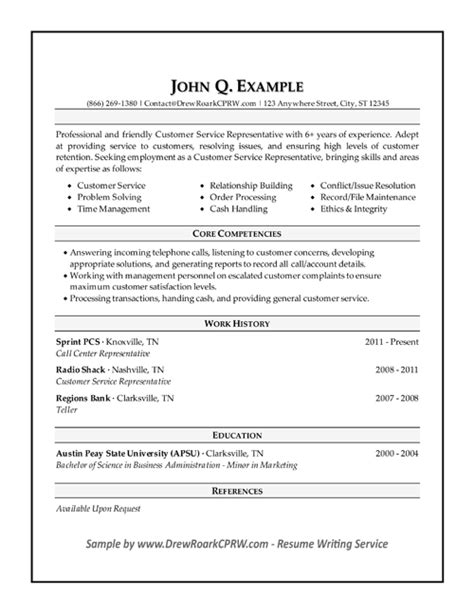 16929 resume exles for customer service position professional executive resume sles by drew