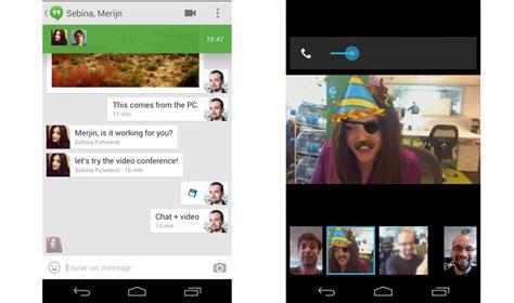 hangouts android eerste indrukken hangouts voor ios android en