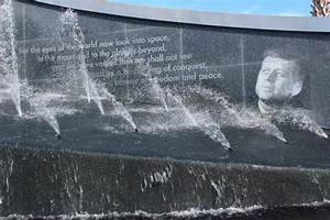 Fountain with Kennedy's Quote - Picture of NASA Kennedy ...