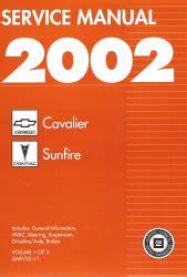 Chevy Cavalier Pontiac Sunfire Factory Service Manual