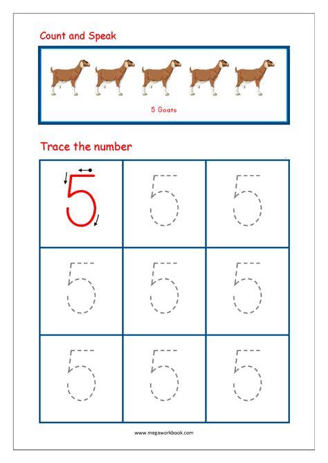 number  tracing worksheets  preschool