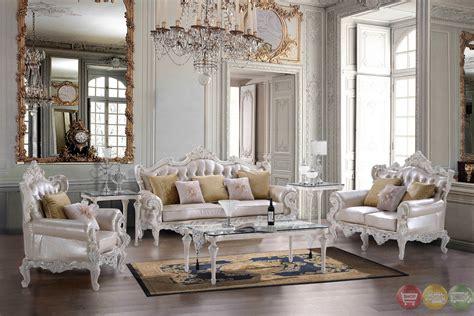 luxury carved bonded leather homey design sofa sets