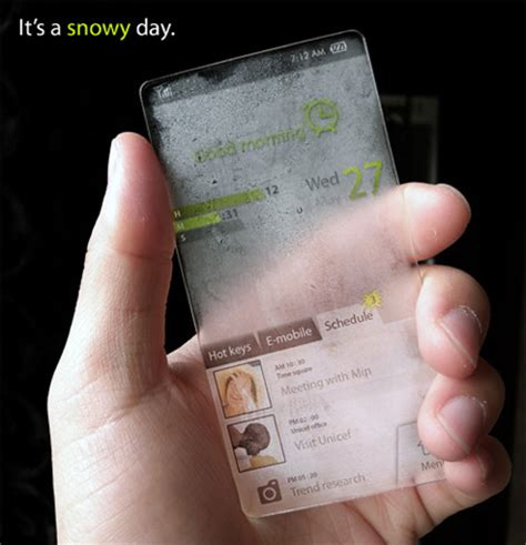 Cool Weather Cell Phone Concept