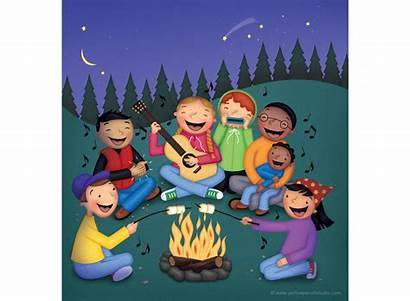 Clipart Camp Song Singer Campfire Transparent Songs