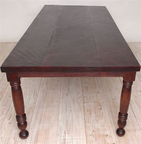 Long Vintage Farm House Dining Table In Reclaimed Black