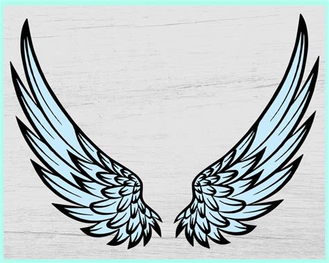 Today i will show you how to put together my 3d memorial angel wings svg! Angel Wings SVG Angel svg Memorial svg Angel Wing Vector ...