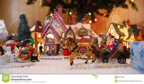 christmas village toys stock photo image  town