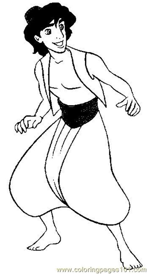 aladdin  coloring page  aladdin coloring pages