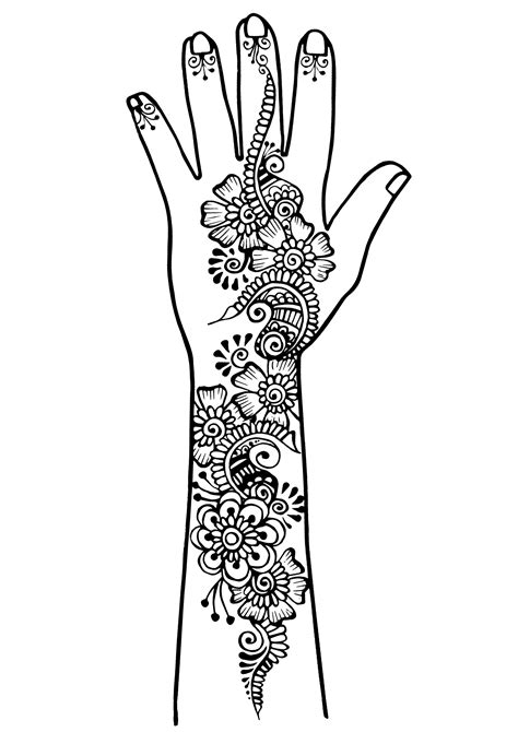 Arm and hand tattoo 1 - Tattoos Adult Coloring Pages