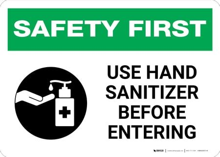 safety   hand sanitizer  entering  icon
