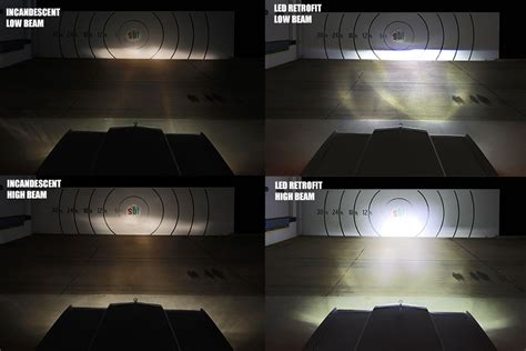 rectangular h4651 led projector headlights led