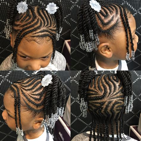 #braids with #design and #beads #kidshair #braidstyles #
