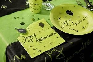 Chemin De Table Anniversaire : achat chemin de table joyeux anniversaire paillet vert ~ Melissatoandfro.com Idées de Décoration