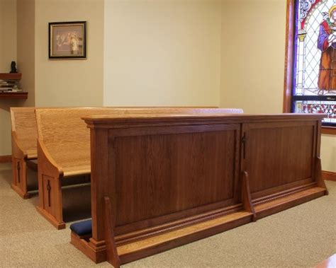 pews   altar rail   catholic chapel